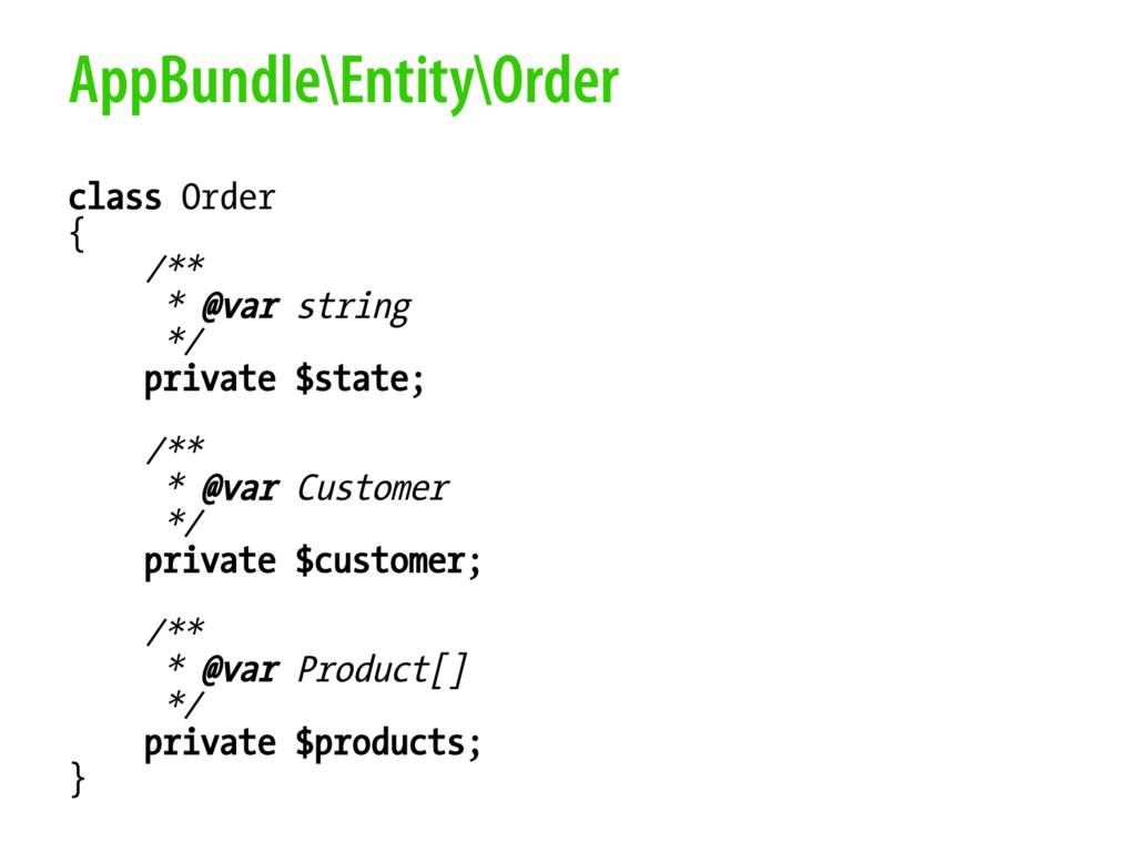 AppBundle\Entity\Order class Order { /** * @var...