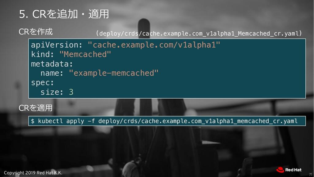 "Copyright 2019 Red Hat K.K. apiVersion: ""cache...."