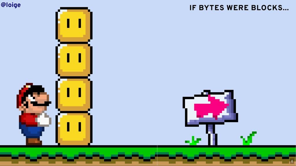 IF BYTES IF BYTES WERE WERE BLOCKS... BLOCKS......