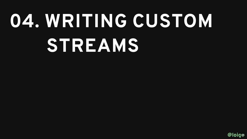 04. WRITING CUSTOM 04. WRITING CUSTOM STREAMS S...