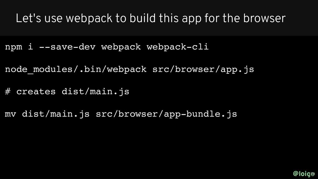 npm i --save-dev webpack webpack-cli node_modul...