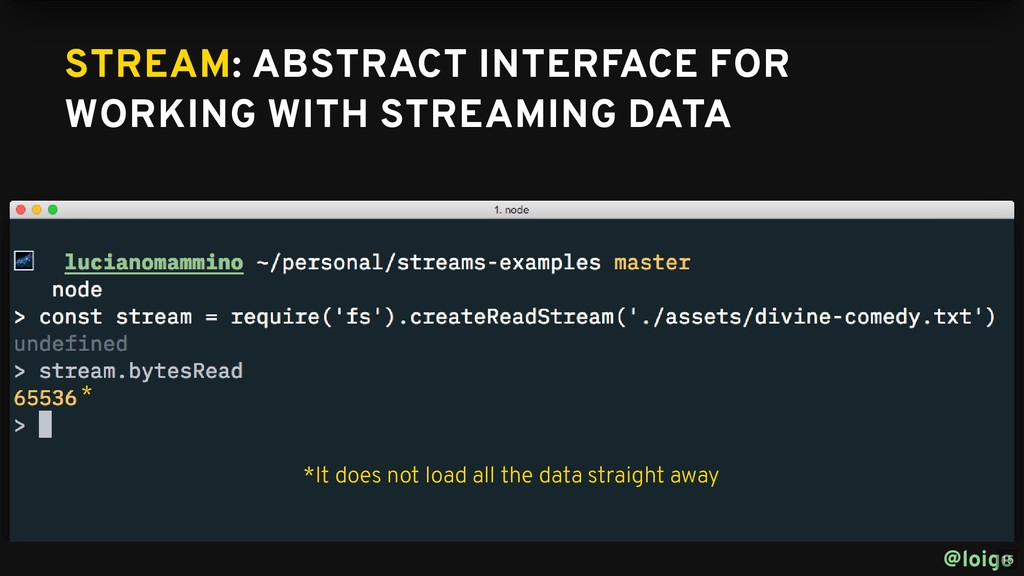 STREAM STREAM: ABSTRACT INTERFACE FOR : ABSTRAC...