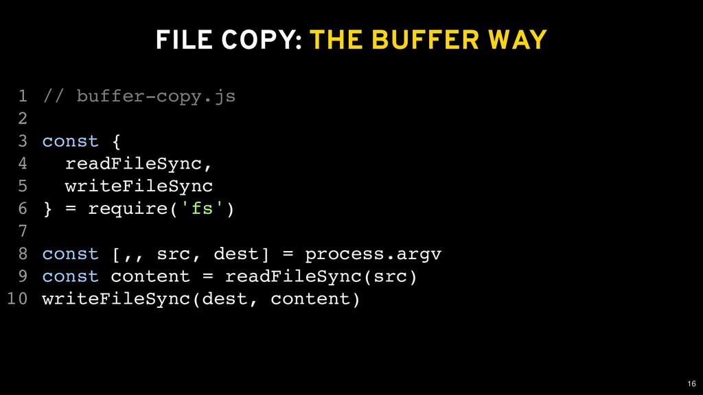 FILE COPY: FILE COPY: THE BUFFER WAY THE BUFFER...