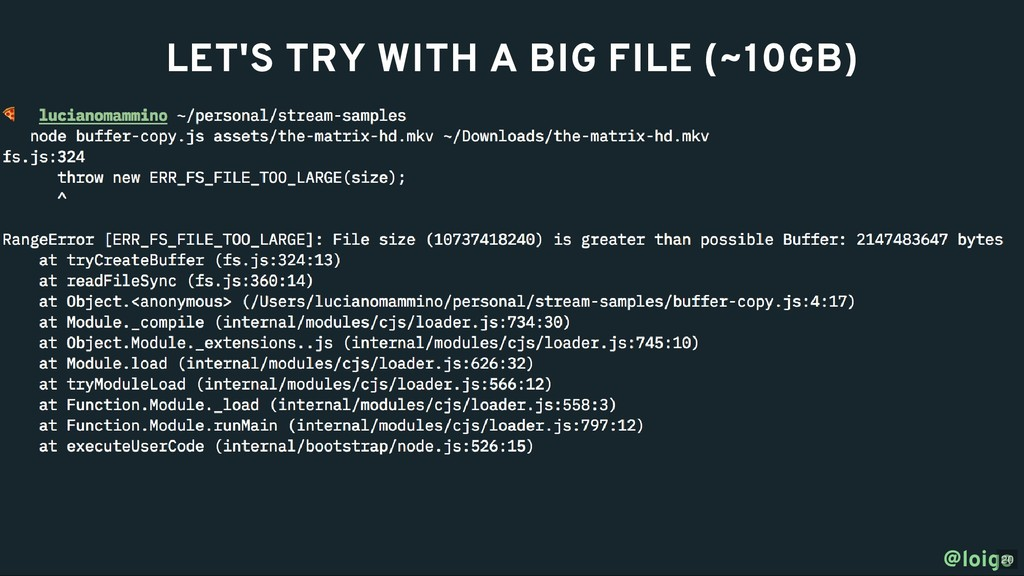 LET'S TRY WITH A BIG FILE (~10GB) LET'S TRY WIT...