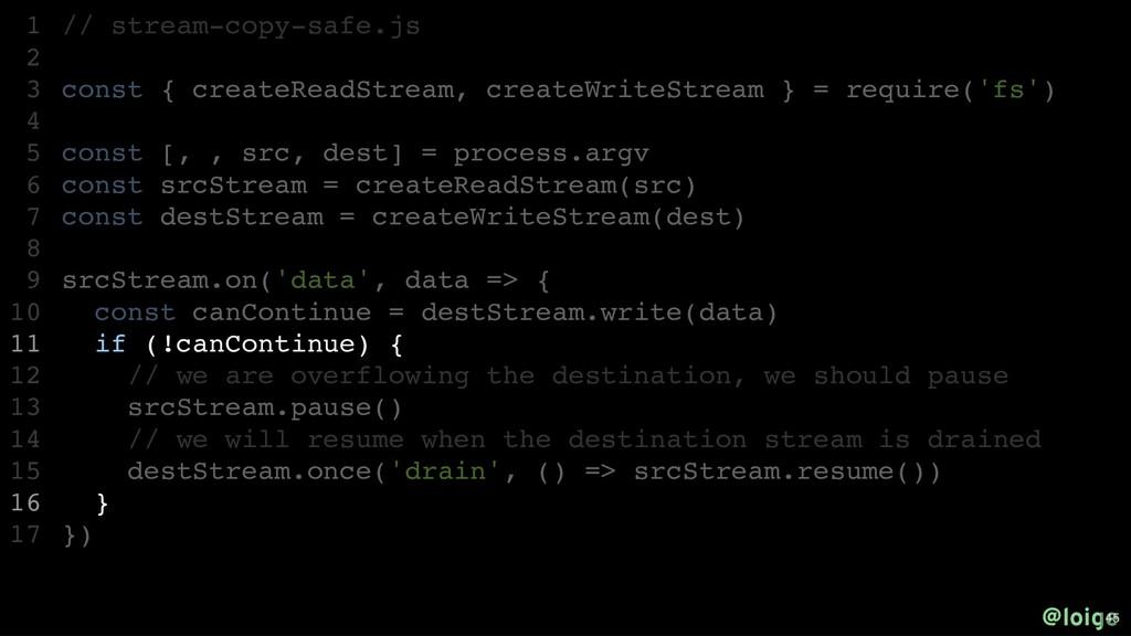 // stream-copy-safe.js const { createReadStream...