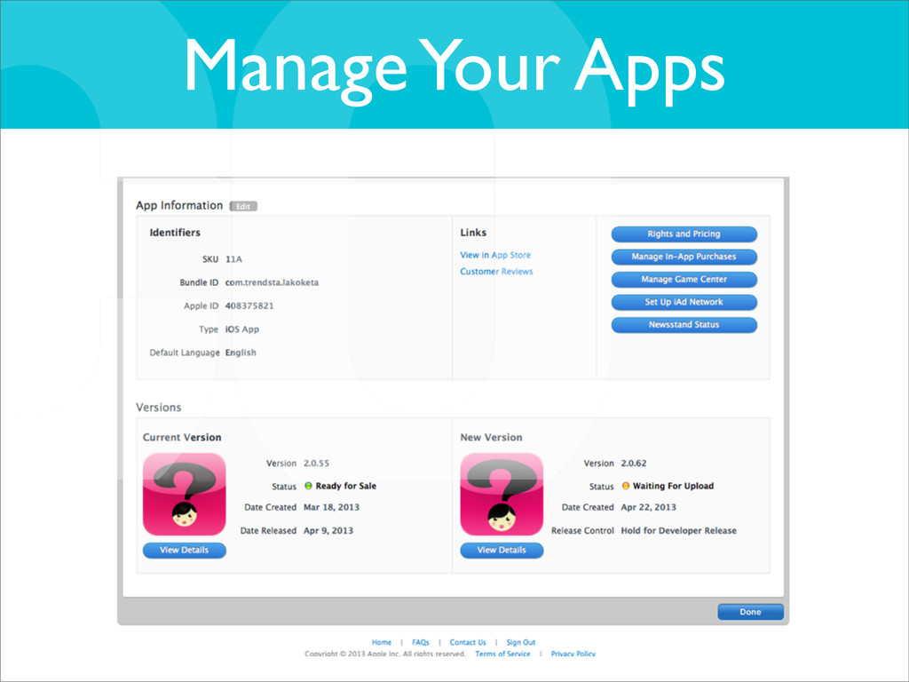 Manage Your Apps