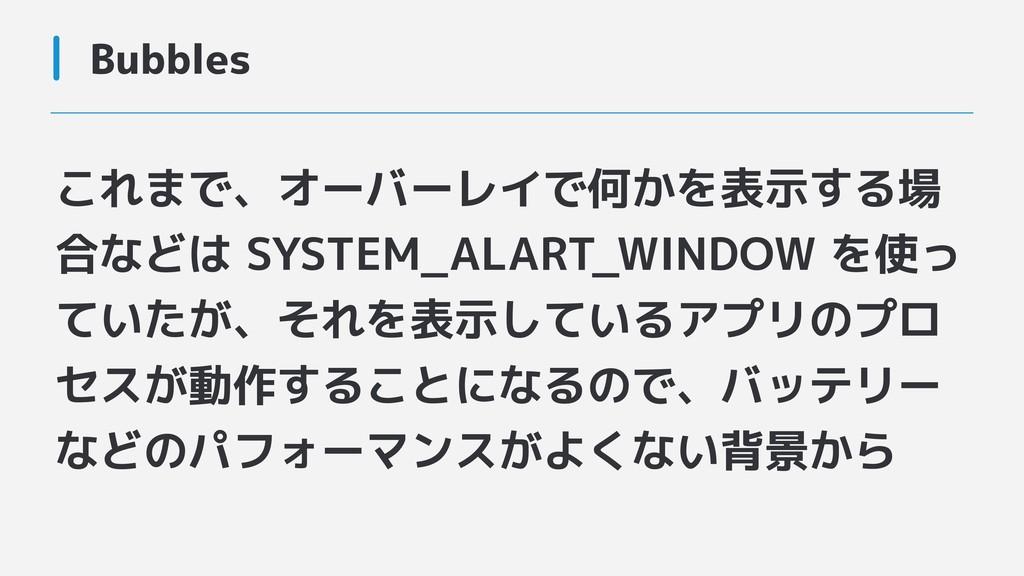これまで、オーバーレイで何かを表示する場 合などは SYSTEM_ALART_WINDOW を...
