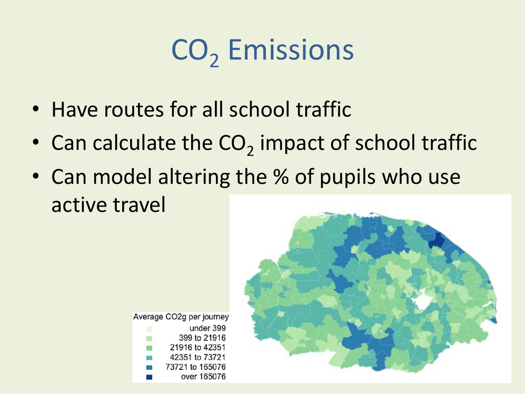 CO2 Emissions • Have routes for all school traf...