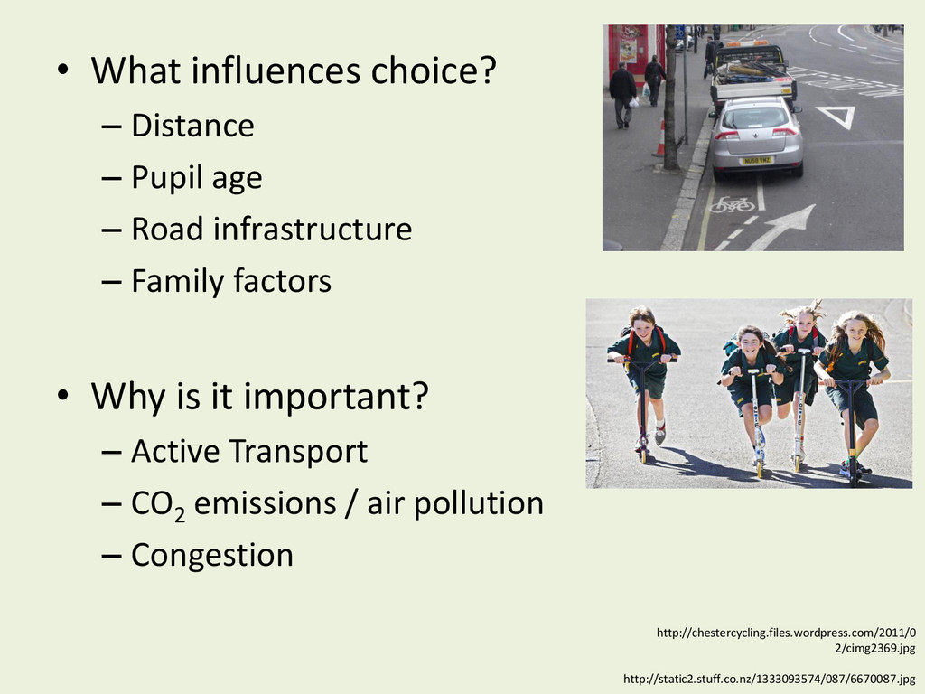• What influences choice? – Distance – Pupil ag...