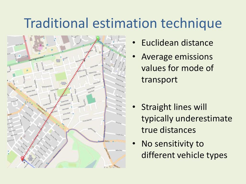 Traditional estimation technique • Euclidean di...