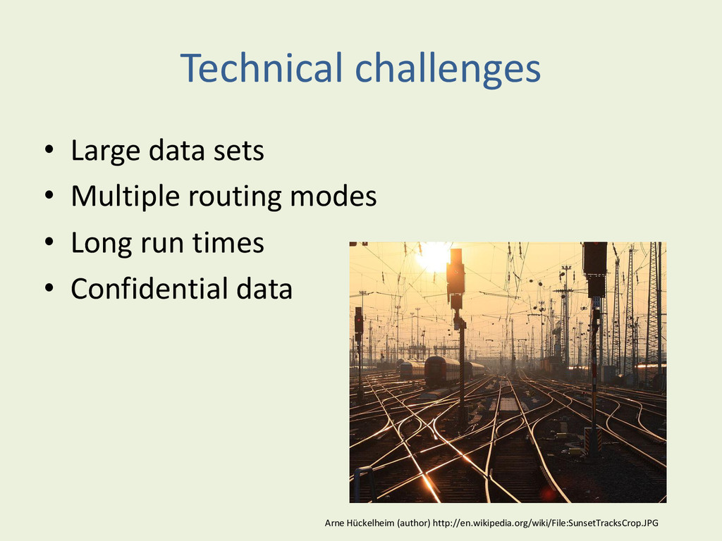 Technical challenges • Large data sets • Multip...