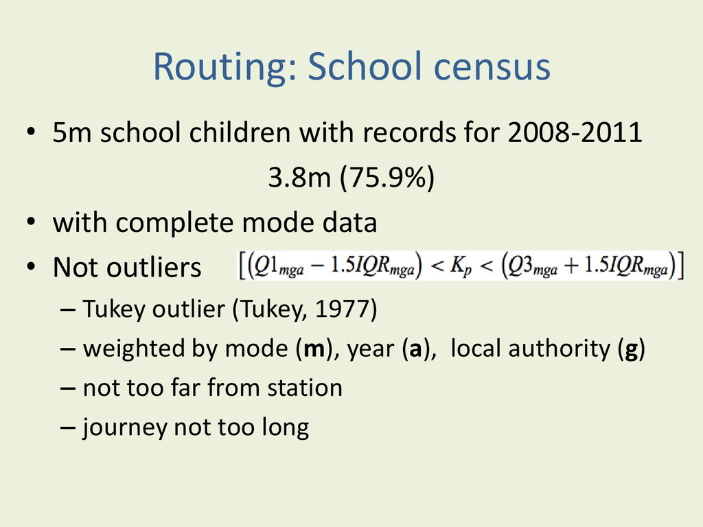 Routing: School census • 5m school children wit...