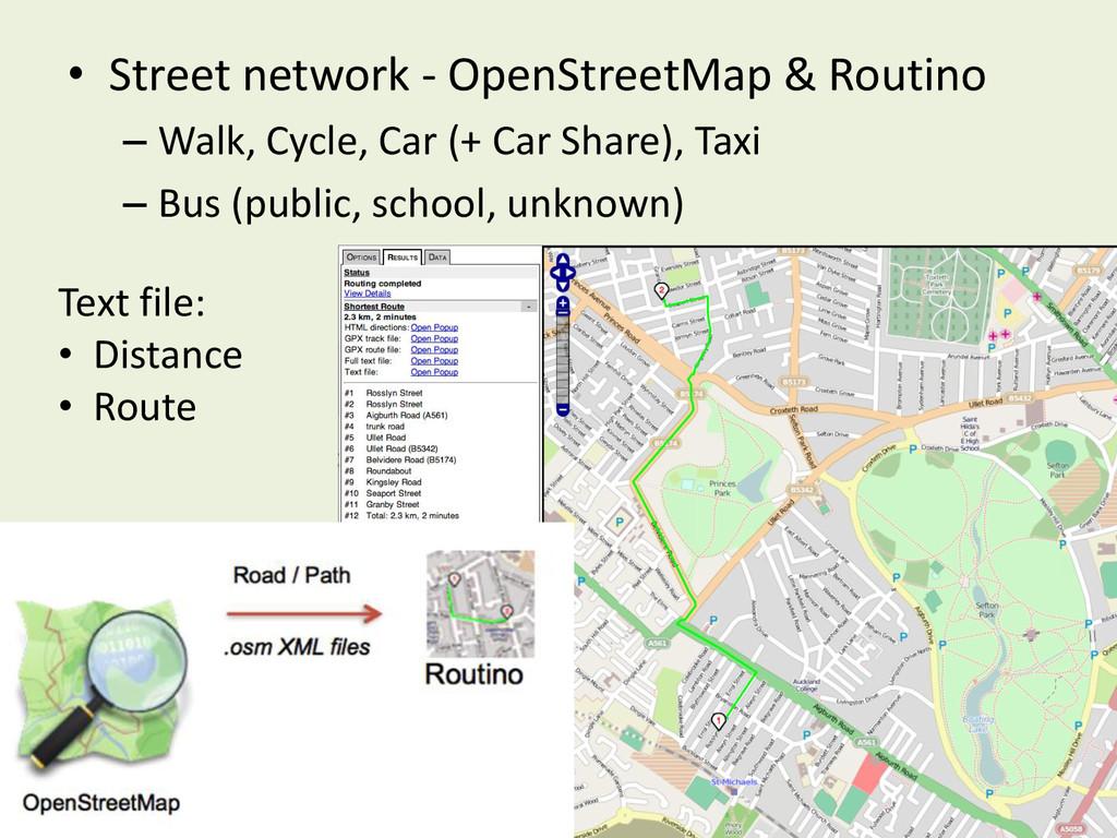 • Street network - OpenStreetMap & Routino – Wa...