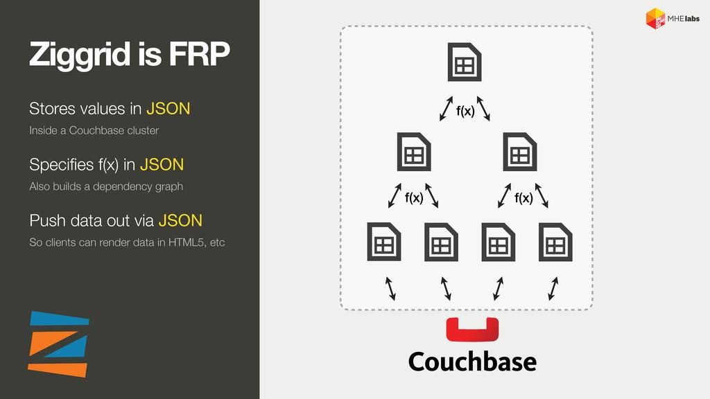 f(x) f(x) f(x) Ziggrid is FRP Stores values in ...