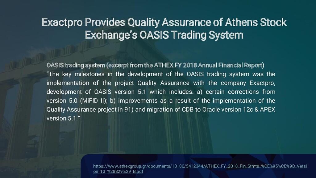 Confidential Exactpro Provides Quality Assuranc...
