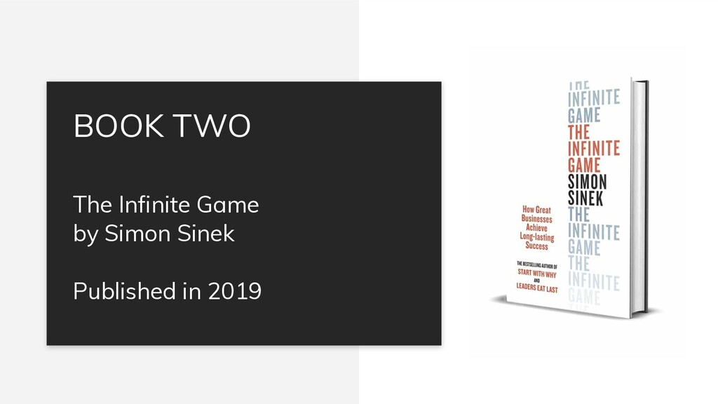 The Infinite Game by Simon Sinek Published in 2...