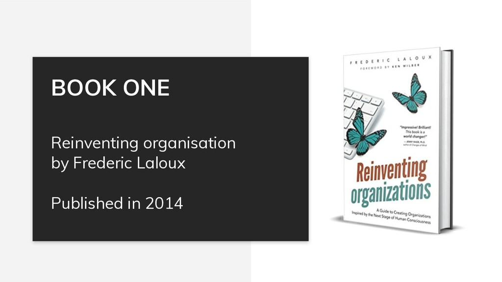 Reinventing organisation by Frederic Laloux Pub...