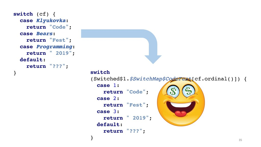 switch (cf) {
