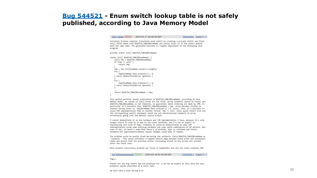 !45 Bug 544521 - Enum switch lookup table is no...