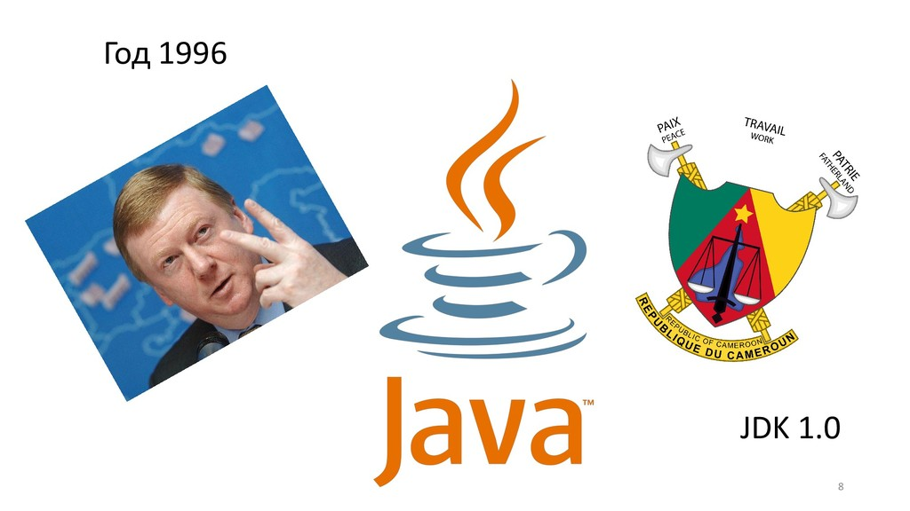 !8 Год 1996 JDK 1.0
