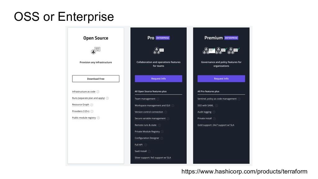 OSS or Enterprise https://www.hashicorp.com/pro...