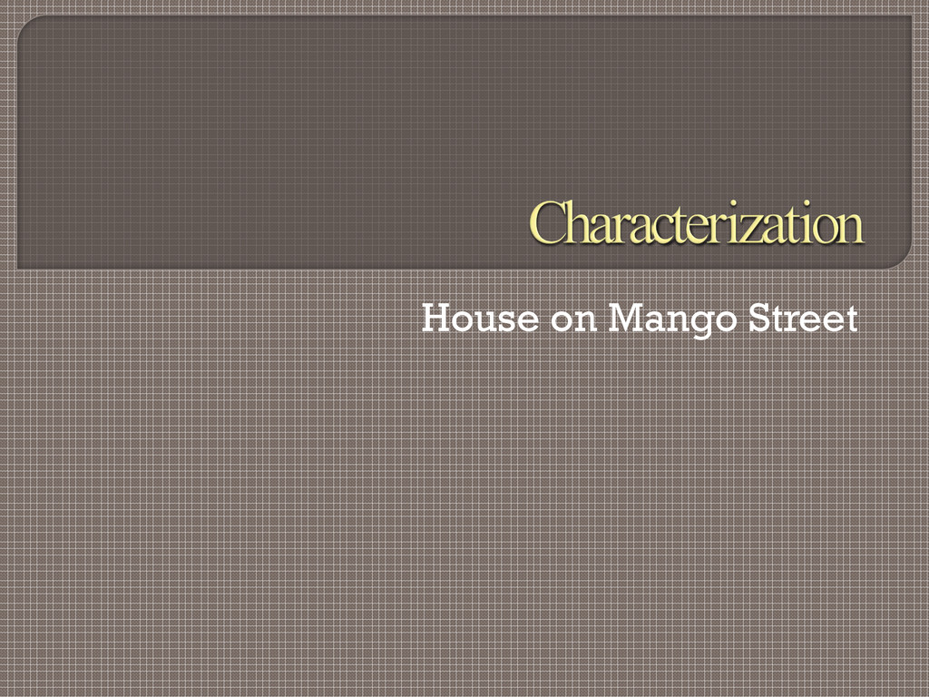 House on Mango Street