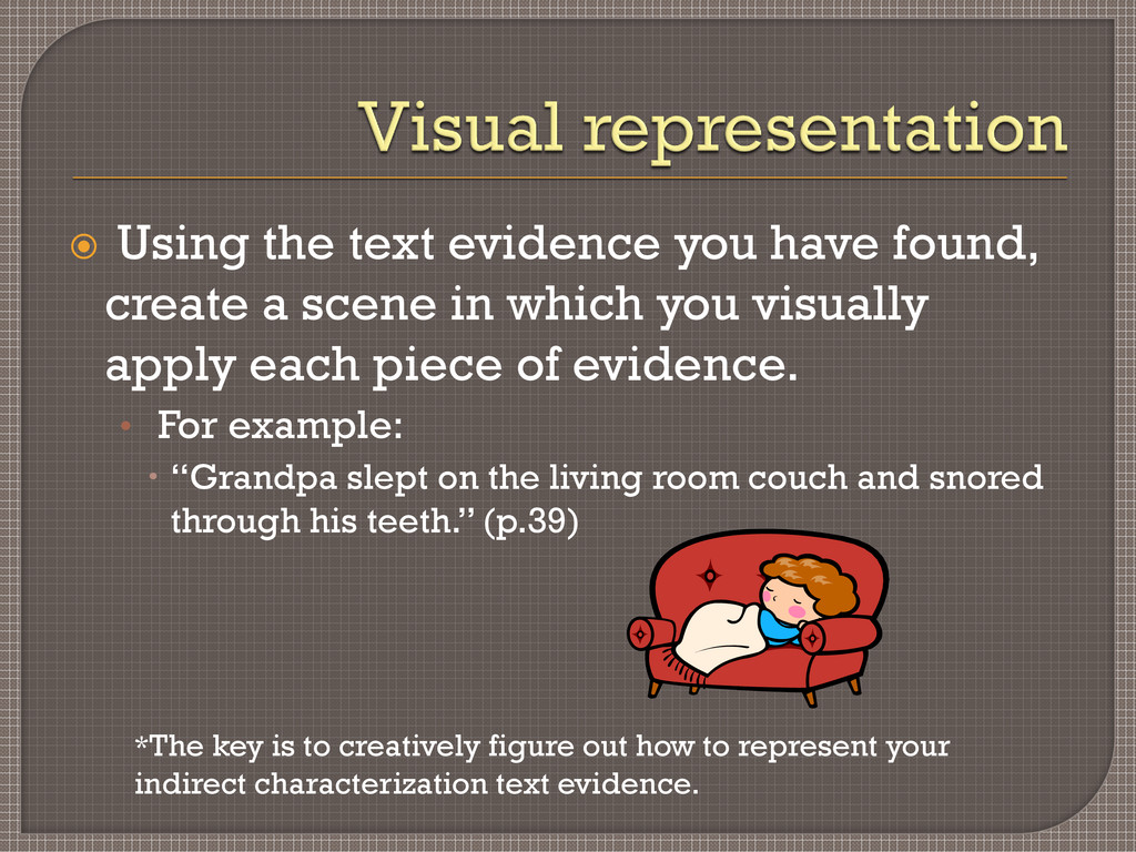  Using the text evidence you have found, creat...