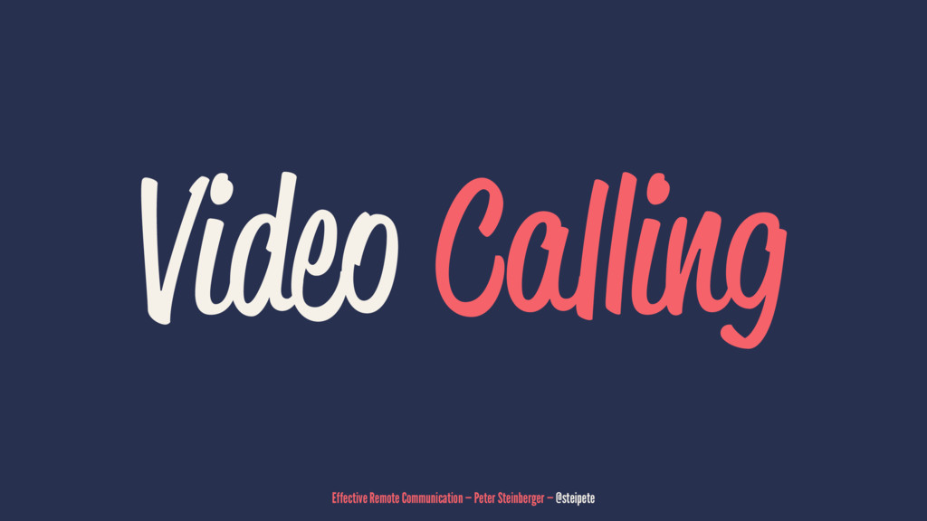 Video Calling Effective Remote Communication — ...