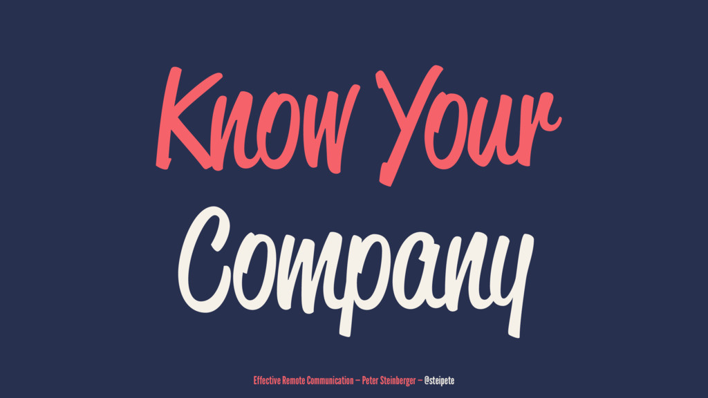 Know Your Company Effective Remote Communicatio...