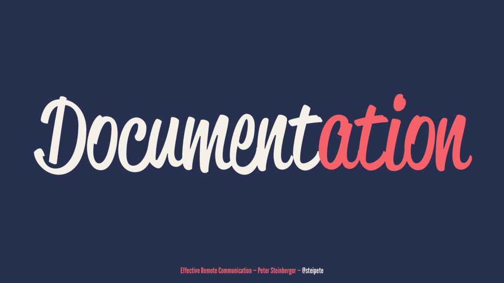 Documentation Effective Remote Communication — ...