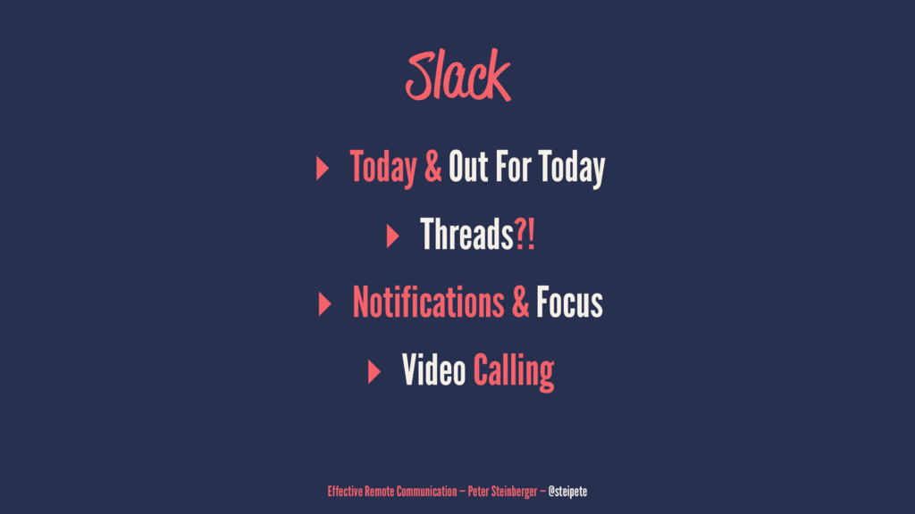 Slack ▸ Today & Out For Today ▸ Threads?! ▸ Not...