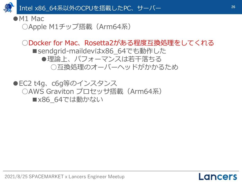 2021/8/25 SPACEMARKET x Lancers Engineer Meetup...