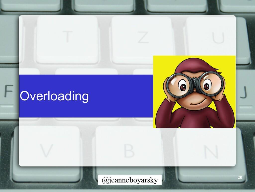 @jeanneboyarsky Overloading 20