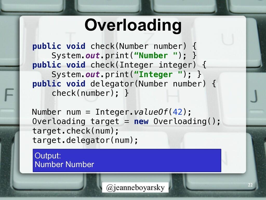 @jeanneboyarsky Overloading 22 public void chec...