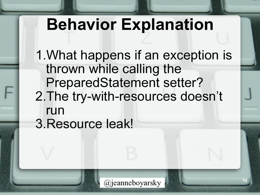 @jeanneboyarsky Behavior Explanation 54 1.What ...