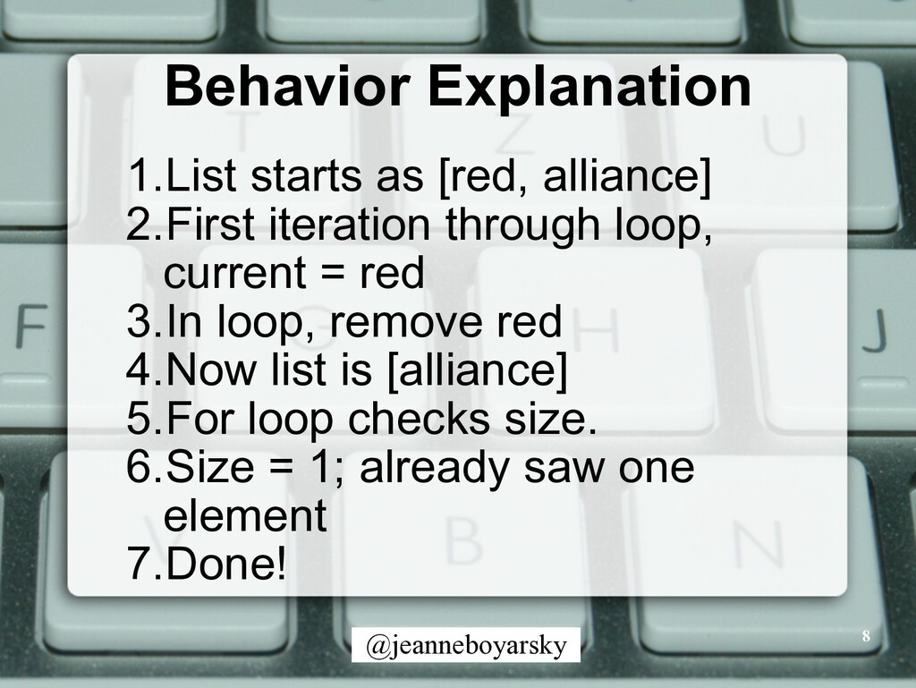 @jeanneboyarsky Behavior Explanation 8 1.List s...