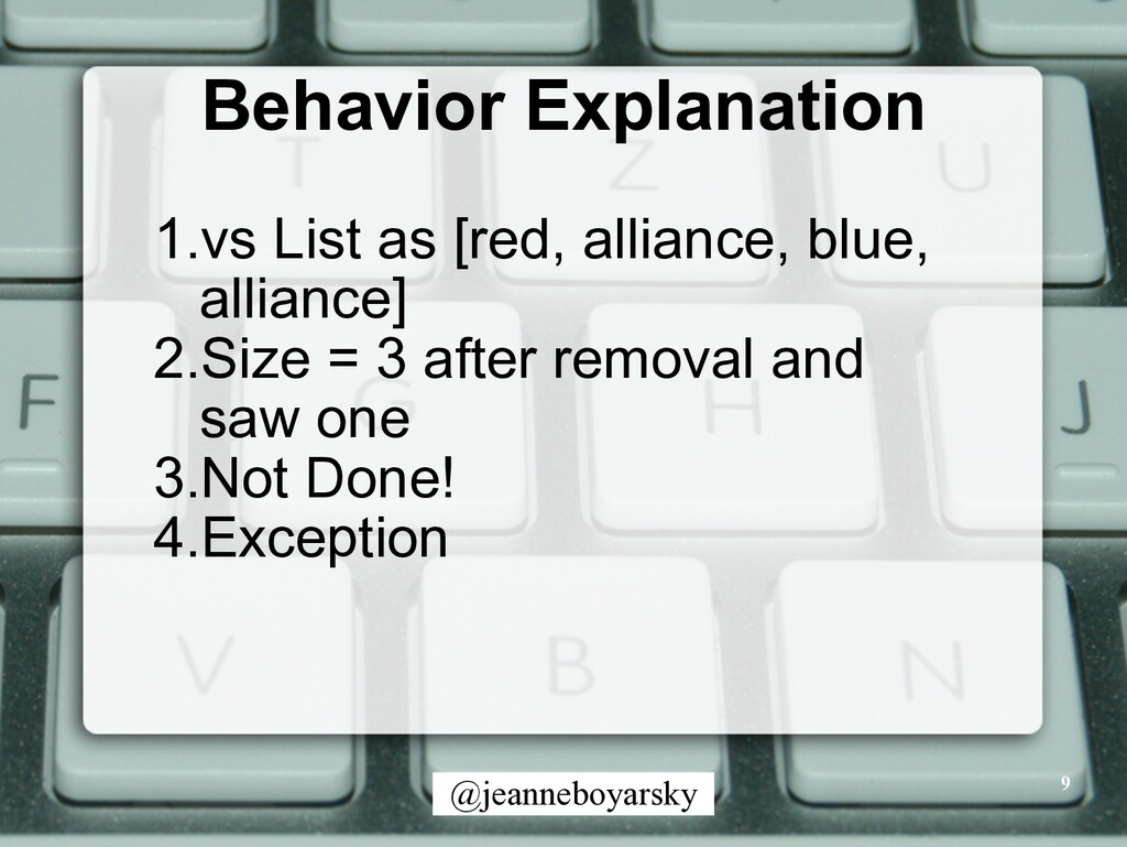 @jeanneboyarsky Behavior Explanation 9 1.vs Lis...