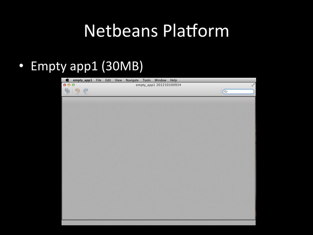 Netbeans Pla`orm • Empty app1 (30MB)