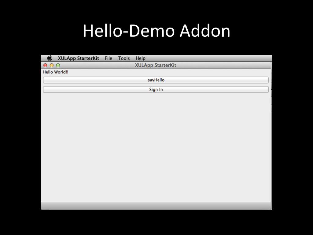 Hello-‐Demo Addon