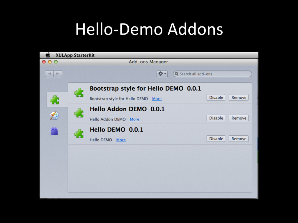 Hello-‐Demo Addons