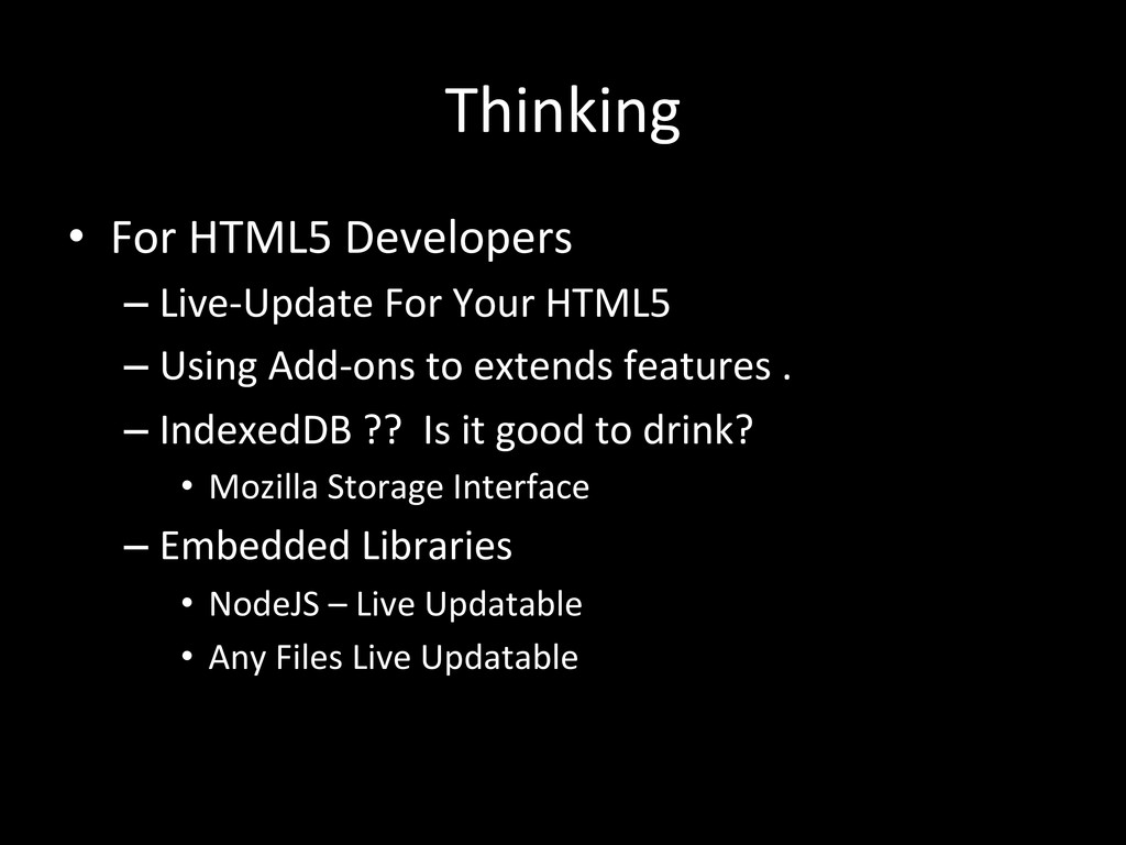 Thinking • For HTML5 Developers  –L...