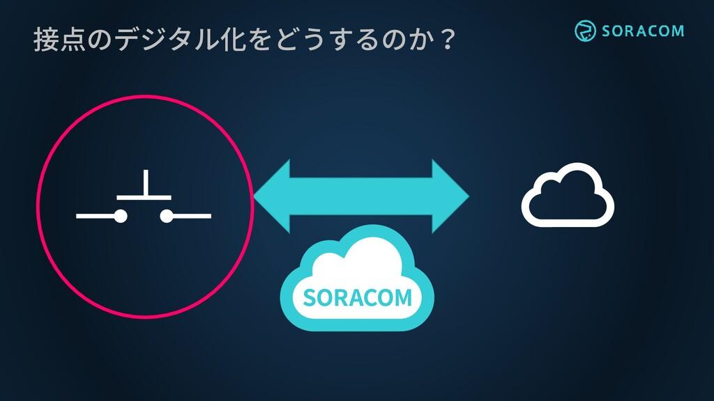 接点のデジタル化をどうするのか?