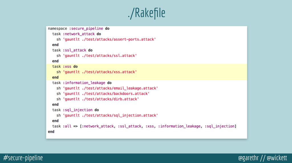 #secure-pipeline @garethr // @wickett ./Rakefile