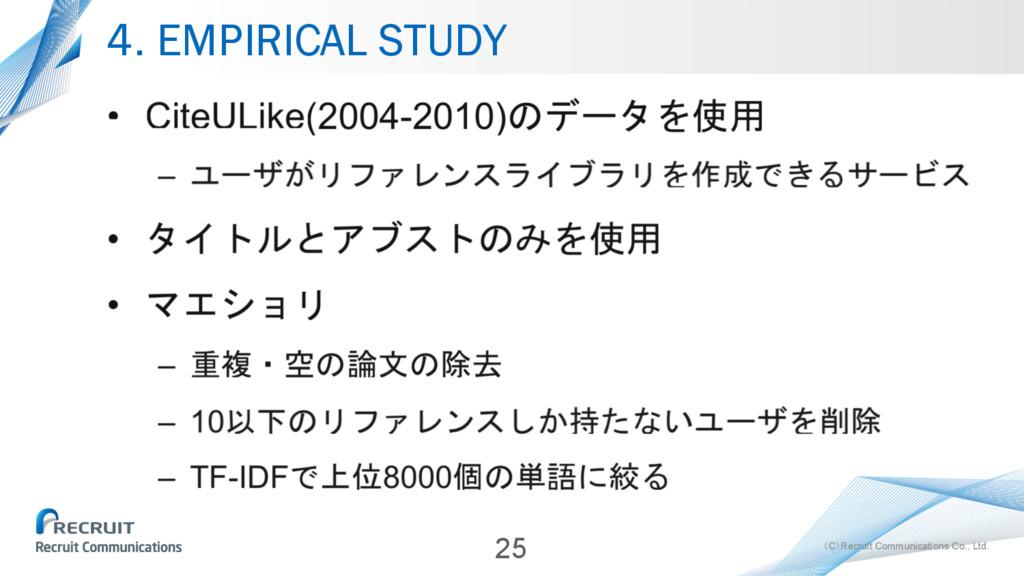(C)Recruit Communications Co., Ltd. 4. EMPIRICA...