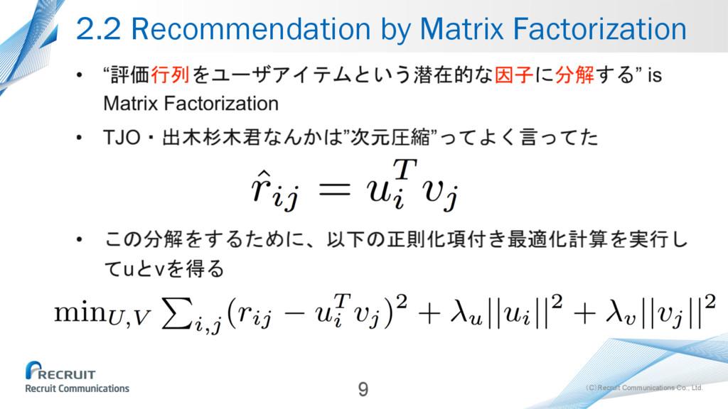 (C)Recruit Communications Co., Ltd. 2.2 Recomme...