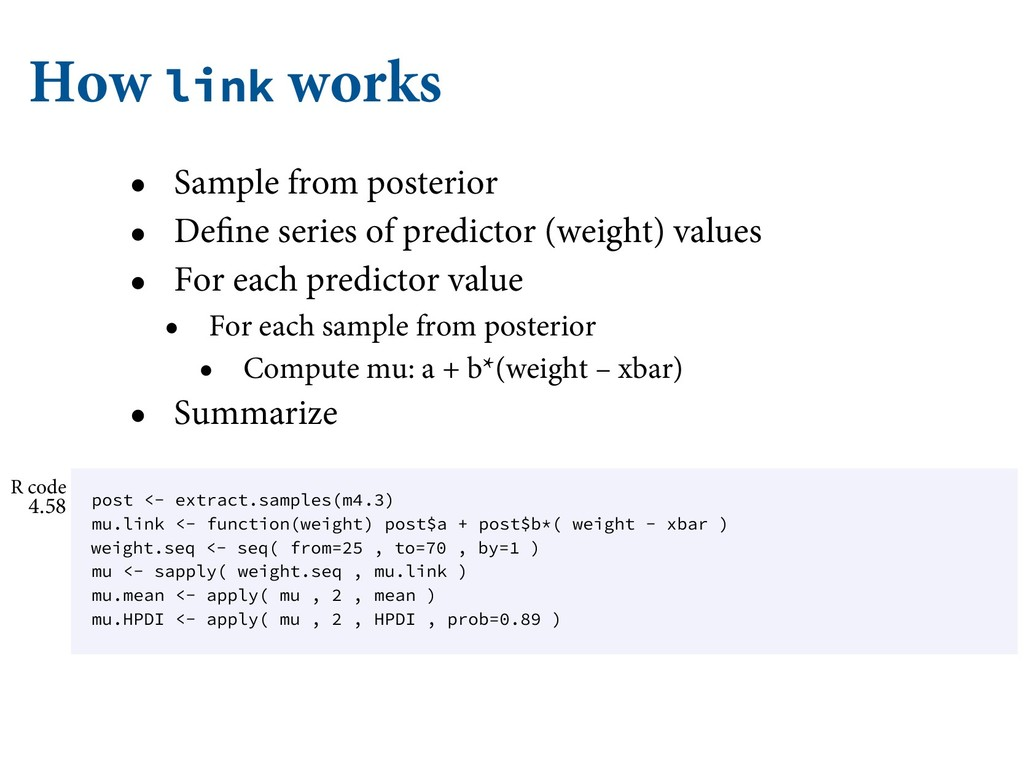 How link works • Sample from posterior • Define...