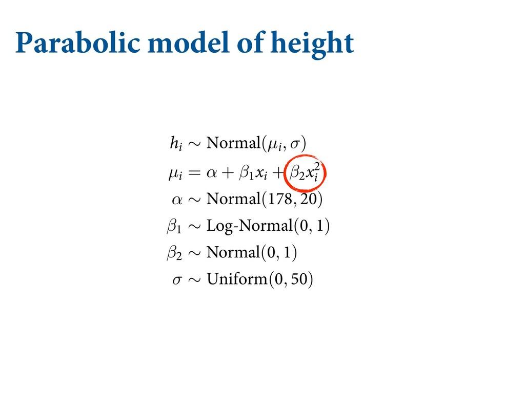 Parabolic model of height DBO TVČFS GSPN UIFTF ...