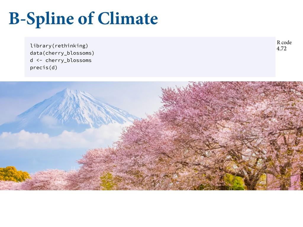 B-Spline of Climate CFDBVTF TPNFUJNFT QSJPST BS...