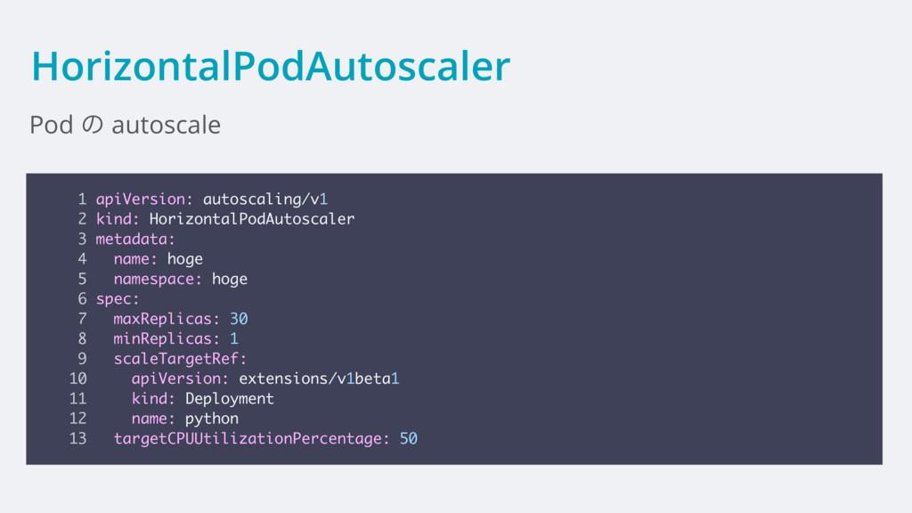 HorizontalPodAutoscaler Pod ͷ autoscale 1 apiVe...