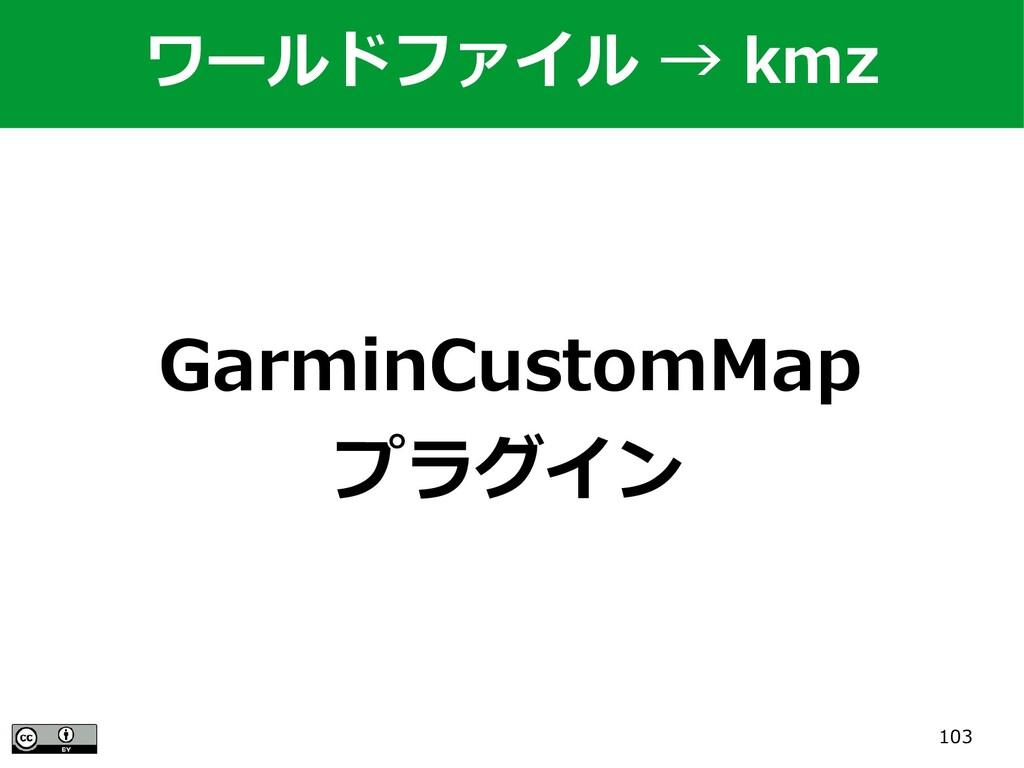 103 GarminCustomMap プラグイン ワールドファイル → kmz